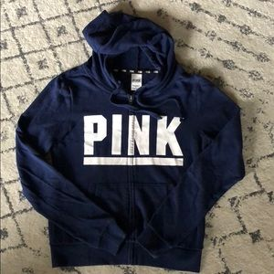 Victoria's Secret PINK Navy Blue Hoodie - Small